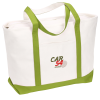 View Image 1 of 2 of Large Heavyweight Cotton Canvas Boat Tote - Embroidered