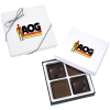 Molded Chocolate Squares - 4 Pieces - Full Color