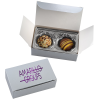 View Image 1 of 4 of Truffles - 2 Pieces - Silver Box