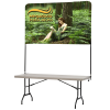 Tabletop Banner System with Back Wall - 6'