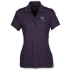 Maze Stretch Embossed Print Polo - Ladies'