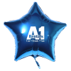 """View Image 1 of 5 of Foil Balloon - 17"""" - Star"""