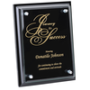Black Finished Plaque with Jade Glass Plate - 8