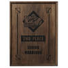 Walnut Finished Wood Plaque - 12