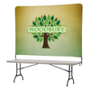 Tabletop Banner System with Tall Back Wall - 8'