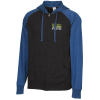 Independent Trading Co. 4.5 oz. Raglan Full Zip Hoodie-Emb