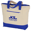 View Image 1 of 3 of Zippered Cotton Boat Tote
