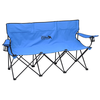 """View Image 1 of 6 of """"The Trio"""" 3 Person Folding Sport Chair"""
