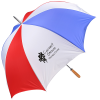 """View Image 1 of 4 of Budget-Beater Golf Umbrella - Red/White/Blue - 60"""" Arc"""