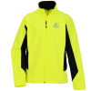 View Image 1 of 2 of Crossland Colorblock Soft Shell Jacket - Men's