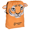 Paws and Claws Drawstring Gift Bag - Tiger