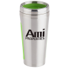Dual Grip Travel Tumbler - 15 oz. - Silver
