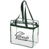Clear Zip Top Box Tote