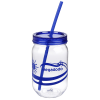 Fiesta Mason Jar with Straw - 22 oz. - Waves