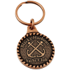 View Image 1 of 3 of Camden Metal Keychain - Round