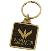 View Image 1 of 3 of Camden Metal Keychain - Square