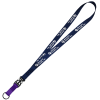 "Mix and Match Smooth Nylon Lanyard - 3/4"" - 38"" - Metal Split Ring"