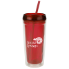 View Image 1 of 3 of Geo Tumbler with Straw - 16 oz.