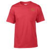 Gildan 5.5 oz. DryBlend 50/50 Pocket T-Shirt - Embroidered - Colors
