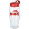 Clear Impact Comfort Grip Bottle with Tethered lid - 27 oz.