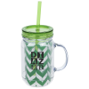 Mason Mug with Straw - 18 oz. - Chevron