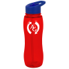 View Image 1 of 4 of Poly-Pure Slim Grip Bottle with Flip Straw Lid - 25 oz.