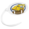 View Image 1 of 3 of Oval POLYspectrum Bag Tag - Opaque