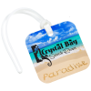 View Image 1 of 3 of Square POLYspectrum Bag Tag - Opaque