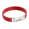 Silicone Wristband with Metal Accent