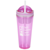 Double Wall Snack Cup with Straw - 16 oz.