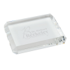 View Image 1 of 3 of Beveled Crystal Paperweight - Rectangle