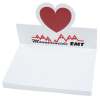 Bic Sticky Note Adhesive Notepad with Die-Cut Holder - Heart