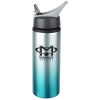 Gradient Color Aluminum Sport Bottle with Straw Lid - 24 oz.