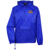 View Image 1 of 3 of Hooded 1/4-Zip Pack Away Jacket - Embroidered