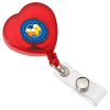 Heart Shaped Retractable Badge Holder - Translucent - FC