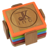 View Image 1 of 3 of Bamboo and Silicone Coaster Set