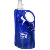 View Image 1 of 3 of Fold Flat Water Bottle with Carabiner - 25 oz.