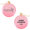 Satin Flat Ornament - Happy Holidays