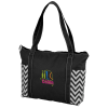 Chevron Zippered Business Tote - Embroidered