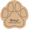 Large Cork Coaster - Paw