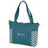 Chevron Zippered Business Tote - 24 hr