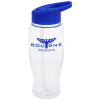 View Image 1 of 3 of Clear Impact Comfort Grip Bottle with Flip Straw Lid - 27 oz.