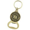 View Image 1 of 3 of Delton Bottle Opener Keychain - Circle