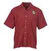 Tonal Pattern Stain Resist Camp Shirt - Men's