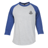 Colorblock 3/4 Sleeve Cotton Baseball T-Shirt