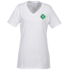 Port Classic 5.4 oz. V-Neck T-Shirt - Ladies' - White - Screen