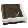 Sherpa Lined Rustic Ranch Throw Blanket