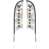 View Image 1 of 2 of Outdoor Razor Sail Sign - 7' - Two Sided