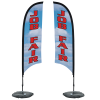 Indoor Razor Sail Sign - 7' - Two Sided