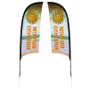 Outdoor Razor Sail Sign - 9' - Two Sided